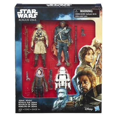 Star Wars Rogue One Jedha Revolt 4 Pack Action Figure Hasbro Toy