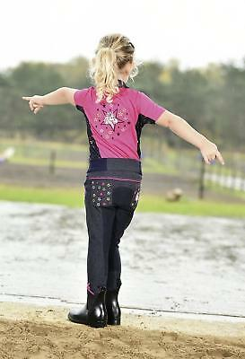 Busse Riding Breeches Kids Collection Stars Pullon Slip On Kid's Pants Full Seat