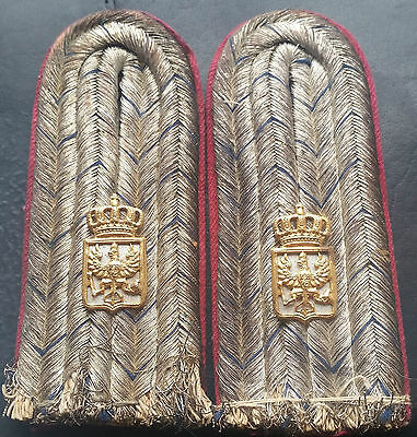 ✚7374✚ German Prussian army WW1 shoulder boards Lieutenant Army Administration