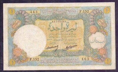 1 Livre From Lebanon Banque De Sirye Et Du Liban French Colony