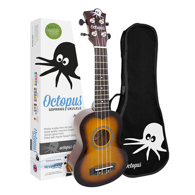 Octopus UK200 Soprano Ukulele Outfit in Various Colours and Finishes