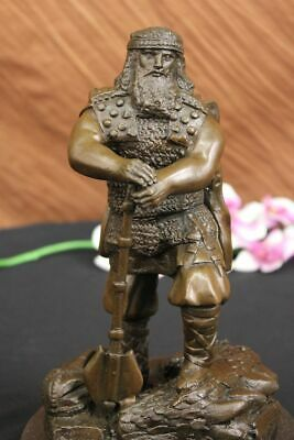 Original Heavy Armor Powerful Huscarl Viking Bronze Sculpture Art by Chris Miles