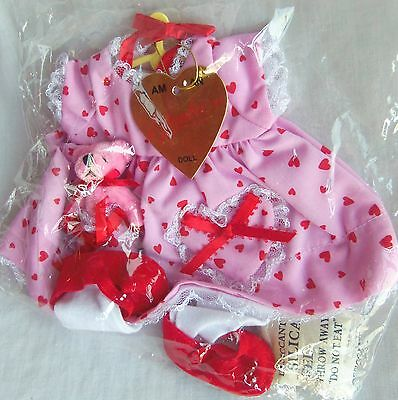 """Effanbee HEARTS DESIRE  COSTUME for 14"""" Patsy Dolls, Tonner, Mint in Bag"""