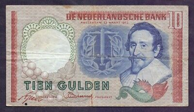 10 Gulden From Netherland 1953