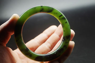 Collection Vintage Chinese antique old natural jade hand carved jade bangle A755