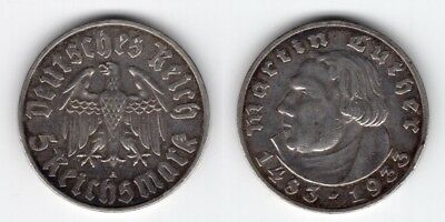 5 Reichsmark 1933 A   Luther