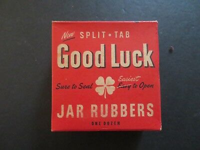 Boston Woven Hose & Rubber Good Luck Canning JAR RUBBER Seal Ring Split Tab (P-4