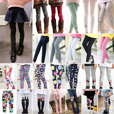 Kinder Mädchen Thermo Leggings Strumpfhose Warm Fleece Hose Leggins Treggings