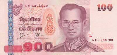 100 Baht Aunc  Banknote From Thailand 2009!pick-114
