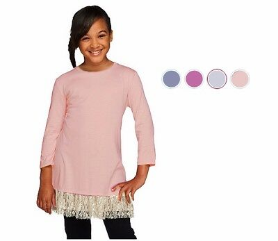 NEW LOGO Littles Lori Goldstein 3/4 Sleeve Knit Top with Lace Sz XS-XXL 280469RM