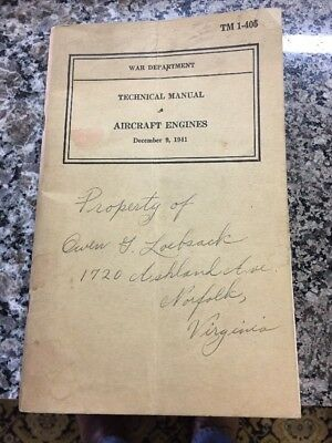 War Department Technical Manual TM 1-405 - Aircraft Engines - 1941