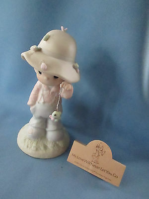 """Precious Moments """"My Love Will Never Let You Go, #103497 Sym Horn EUC With Box"""