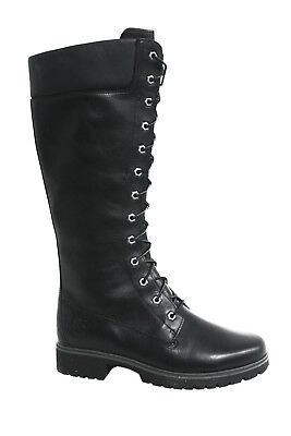 6b76cd6a10a Timberland Womens 14 Inch Knee High Leather womens Boots Black 8632A  OPPD1-C2