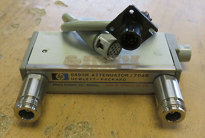 HP Agilent Programmable Step Attenuator DC-18GHz 8495H Opt. 001 w/ Cable