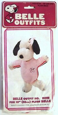 """1982 Peanuts Snoopy's Sister  BELLE LEOTARD OUTFIT #9095 for 10"""" PLUSH - MIP"""