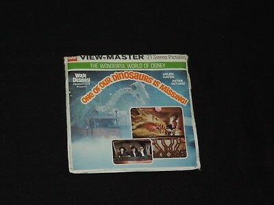 UNOPEN GAF 1975 WORLD of DISNEY ONE of OUR DINOSAURS is MISSING VIEW MASTER
