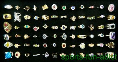 Brilliant Lot of 72 pc Multi Design Multi Stone New Old Stock Women's BOLD Rings