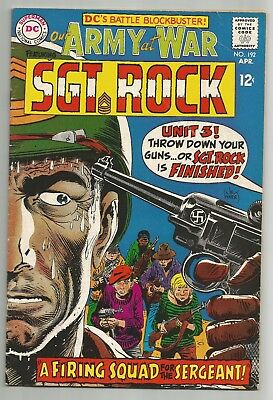 Our Army At War No. 192 Apr. 1968 Sgt. Rock Joe Kubert Cover Dc Comics Fn