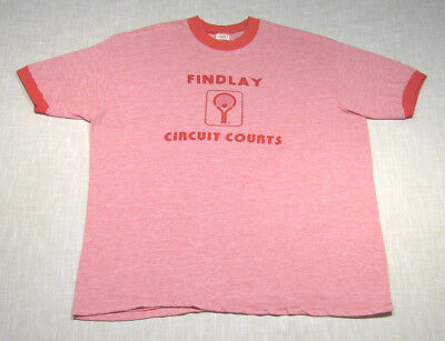Vintage RACQUETBALL FITNESS CENTER Ringer T-Shirt (70s) RAYON! SOFT! WOW! L