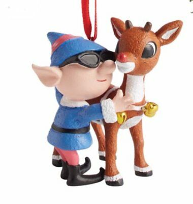 Department 56 Rudolph Reindeer with Elf Christmas Tree Ornament 4057970 New