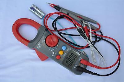 AC DC True RMS Clamp Meter Ammeter DMM+Capacitor Tester+K Thermocouple HVAC Tool