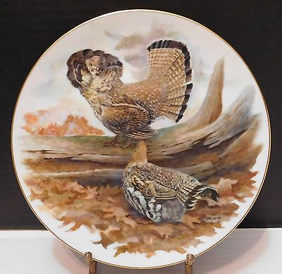 Nature's Heritage Ruffed Grouse Jim Foote Plate V Ltd  Ed #2939/14500