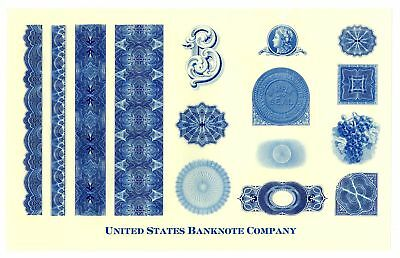 Vignette Sample Sheet from U.S. BNC, ca.1960's.