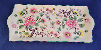 Old Foley James Kent LTD Chinese Rose Staffordshire 11 in x 5 in Tray