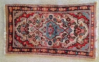 Vintage Small WOOL Persian Carpet 18 Inches by 31 Inches