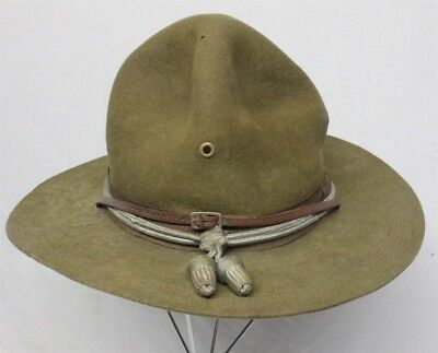 WWI Army Campaign Hat with Infantry Cord - size 7 1/4