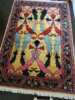 Rare Stunning Art Nouveau Art Deco Antique Rug