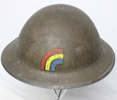 Painted WWI U.S. Army M1917 Helmet - 42nd Division, British made