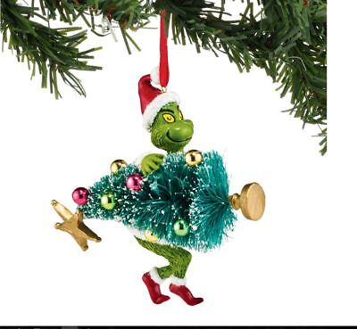Dr Seuss The Grinch Stealing Christmas Tree Dept 56 Ornament Boxed