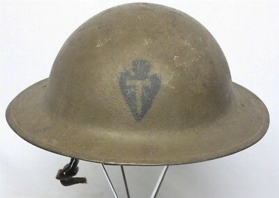 Painted WWI U.S. Army M1917 Helmet - 36th Division, US made