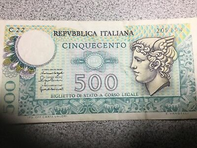 ITALY 1974-1979 500 Lira banknote lightly circulated