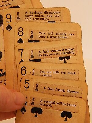 Antique Fortune Telling Cards Boston Store Advertising Deck Tarot Hand Made