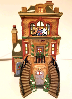 Dept 56 Dickens Village - Manchester Square 58301 Custom House Brand New Rare