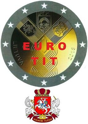 2 €   LITUANIE  1   X  PIECE  COMMEMORATIVE  ETATS  BALTES   2018     disponible