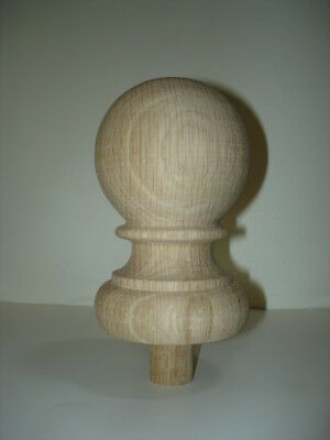 WOOD FINIAL UNFINISHED FOR  NEWEL POST FINIAL OR CAP  Finial #38.1