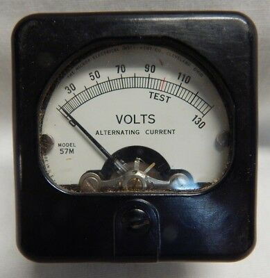 Vintage Panel Gauge AC Volts 0-130 The Hickok Electrical Company Cleveland
