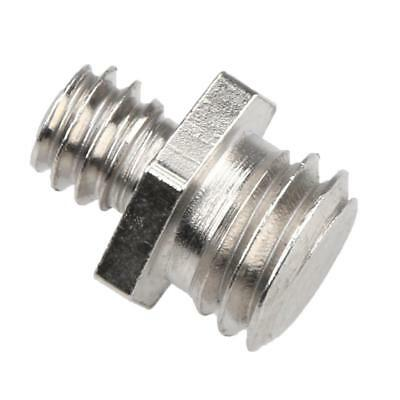 "Dual Metal Adapter Male 1/4"" to Male 3/8"" Threaded Screws for Camera Cage"