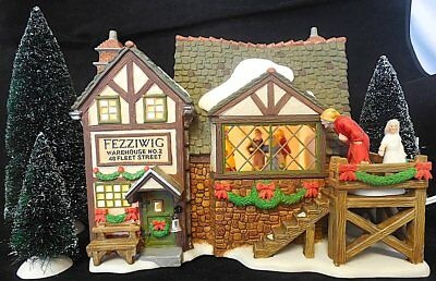 Dept 56 Dickens Village- Fezziwig's Ballroom 58470 Animated Gift Set 6 Brand New