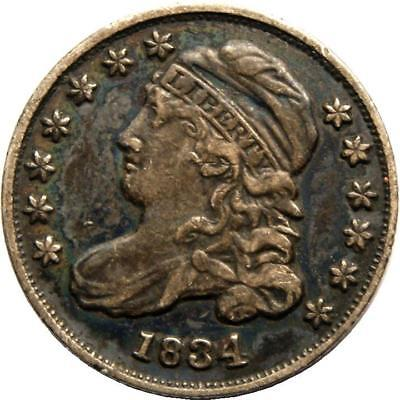 1834 Capped Bust Dime in the XF-lowAU range all Original Coin YOU DECIDE C PIX!