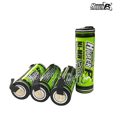 4 pcs AA 1200mAh 1.2V Rechargeable Battery Cell with Tab HyperPS For RC Toys
