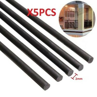 5pcs 2mm Diameter x 500mm Carbon Fiber Rods For RC Airplane High Quality Pole
