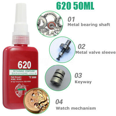620 Retaining Compound Thread 50ml High Strength Metal Adhesive Retainer Glue