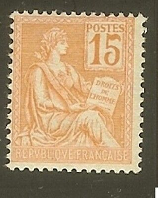 "FRANCE STAMP TIMBRE N° 117 "" TYPE MOUCHON 15c ORANGE "" NEUF xx TTB"
