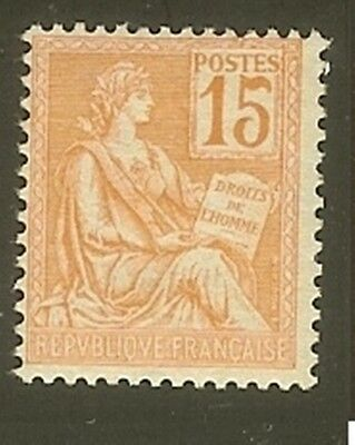 "FRANCE STAMP TIMBRE N° 117 "" TYPE MOUCHON 15c ORANGE "" NEUF xx  LUXE B912"