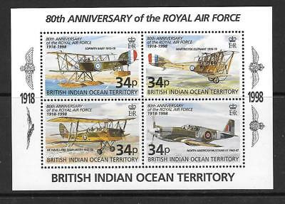 British Indian Ocean Terr Sgms219 1998 Royal Air Force  Mnh
