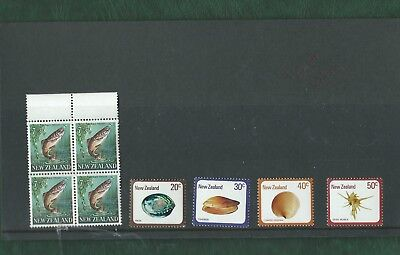 New Zealand unmounted mint fish and sea life MNH nice lot of 29 stamps
